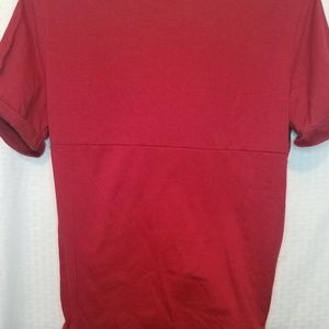 SHEIN Tops - Shein Red tie front tee with cuffes sleeves